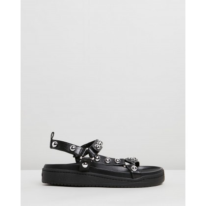 Stud Sandals Black by Schutz