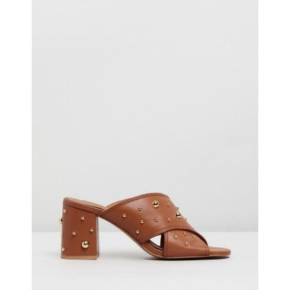 Studded Leather Mules Orange by See By Chlo??