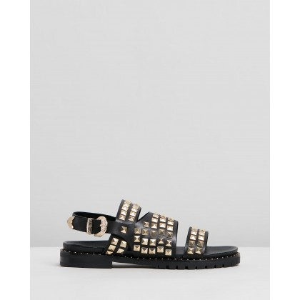 Studded Vivienne Sandals Black by Oneteaspoon