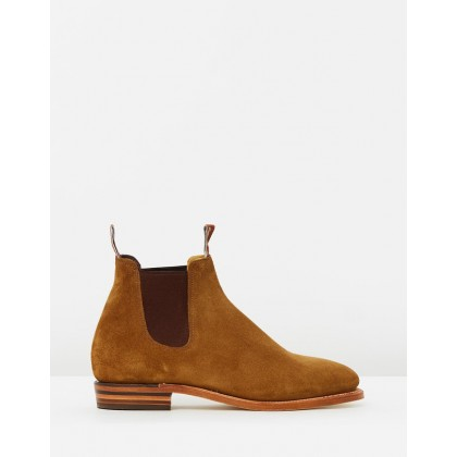 Suede Adelaide Boots Tobacco Suede by R.M.Williams