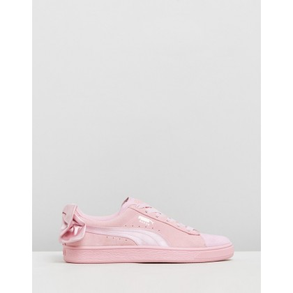Suede Bow Galaxy - Women's Pale Pink Hibiscus by Puma