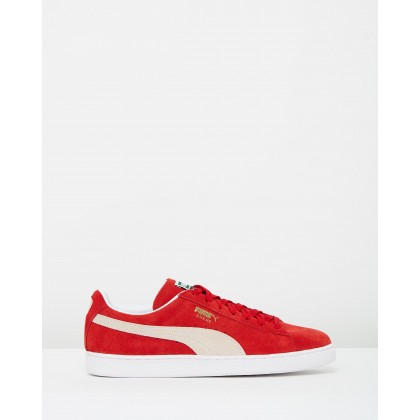 Suede Classic+ Unisex Team Regal Red & White by Puma