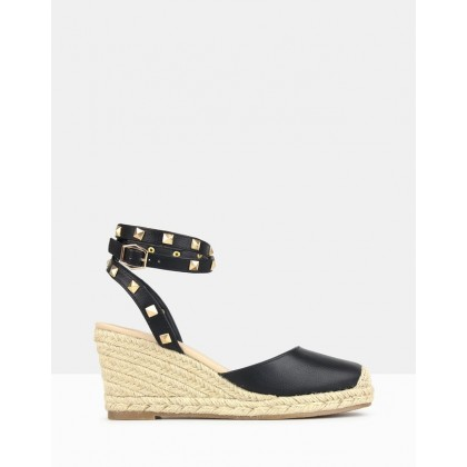 Summer Wedge Espadrilles Black by Betts
