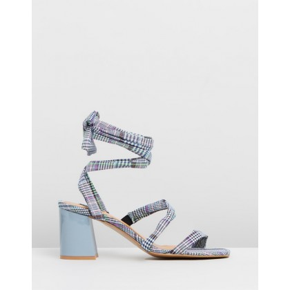 Summertime Check Sandals Sky by Jaggar The Label