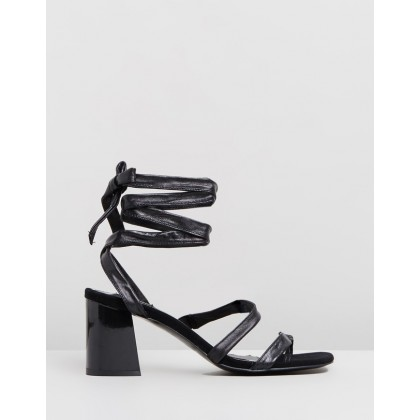 Summertime Leather Sandals Black by Jaggar The Label