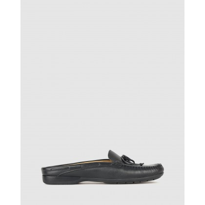 Superb Slip On Leather Loafers Black by Airflex