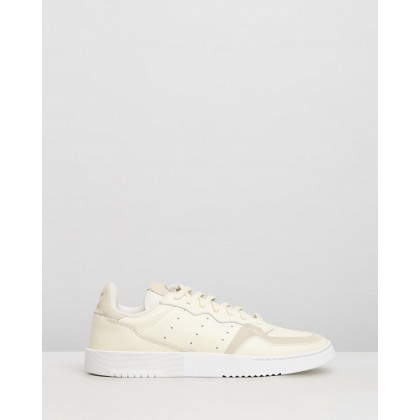 Supercourt - Unisex Ecru Tint & Crystal White by Adidas Originals