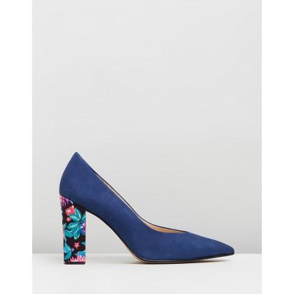 Susan Blue Suede & Floral Multi by Nina Armando