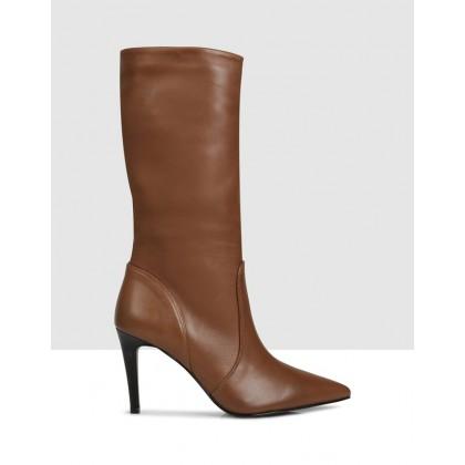 Sybella Mid Calf Boots Cinnamon by Sempre Di