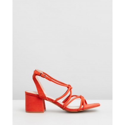 Sydney Tubular Sandals Red by Topshop