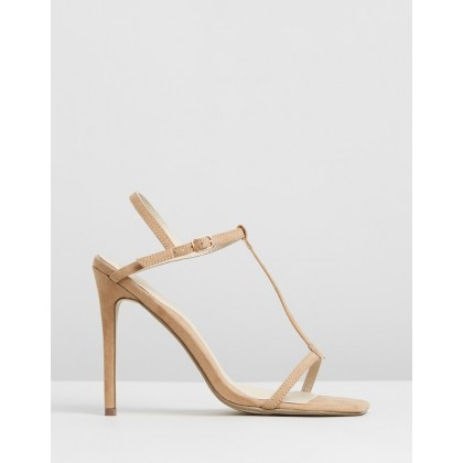 T-Bar Barely There Stilettos Nude by Missguided