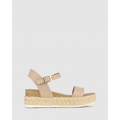 Tahlia Rope Flatform Sandals Latte by Betts