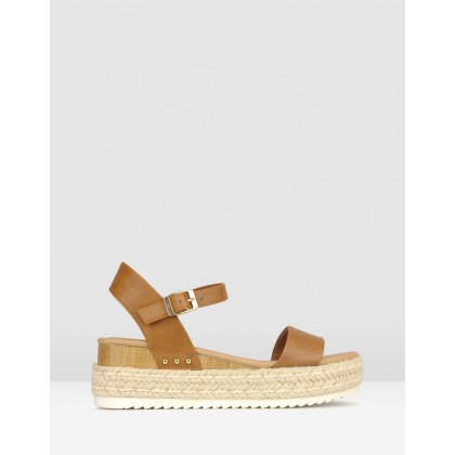 Tahlia Rope Flatform Sandals Tan by Betts