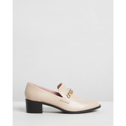 Tara Leather Loafers Beige Leather by Atmos&Here