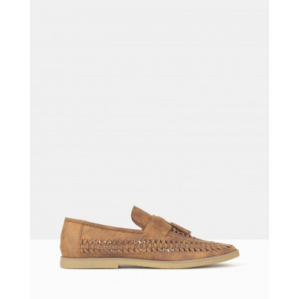 Tassel Huarache Loafers Tan by Betts