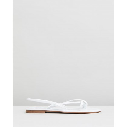 Tate Sandals White Patent by Dazie