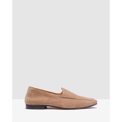 Taylor Suede Slip On Sand by Oxford