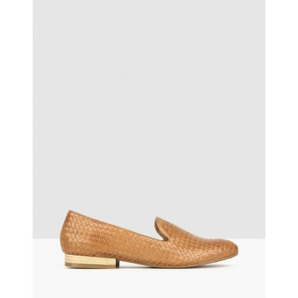 Taylor Woven Leather Loafers Tan by Airflex