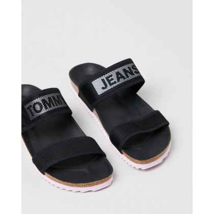 Technical Mesh Flat Sandals Black by Tommy Hilfiger