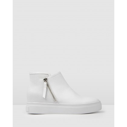 Tenner Sneakers White Leather by Jo Mercer
