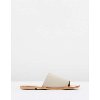 Teresa Slides Fog Grey Suede by Sol Sana