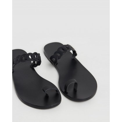 Thalia Links Black by Ancient Greek Sandals