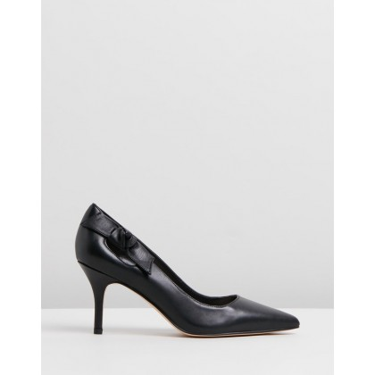 Thayer Black Leather by Nine West