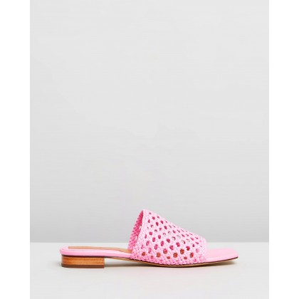 THE ICONIC EXCLUSIVE - Woven Flats Candy Pink by Jaggar The Label