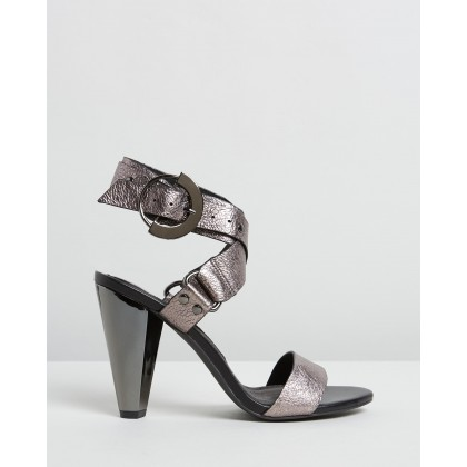 The Mirage Heels Pewter by Sass & Bide