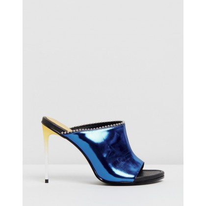 The Wild Child Mules Blue by Sass & Bide