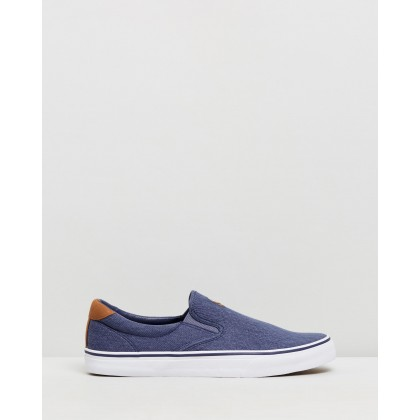 Thompson Slip On Navy Washed Twill by Polo Ralph Lauren