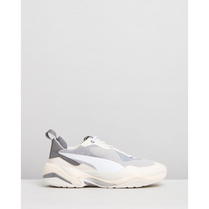 Thunder Colour-Block - Women's Quarry & White Smoke by Puma