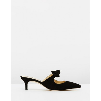 Tie Slide Eloise Pumps Black by J.Crew