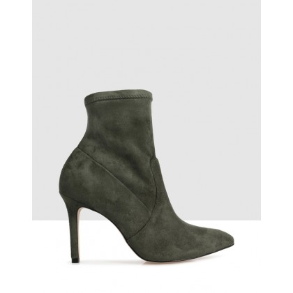 Tierra Ankle Boots Green by Sempre Di