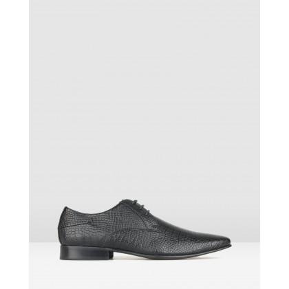 Titan Derby Dress Shoes Black Croc by Betts