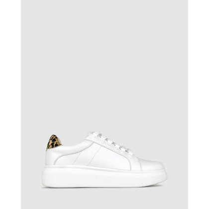 Tobie Lifestyle Sneakers White/Leopard by Betts