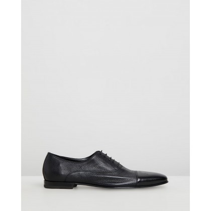 Toe Cap Oxford Black Deer Leather by Barrett