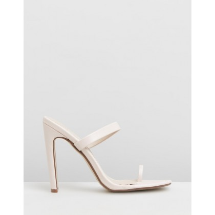 Toe Post Mules Nude by Missguided