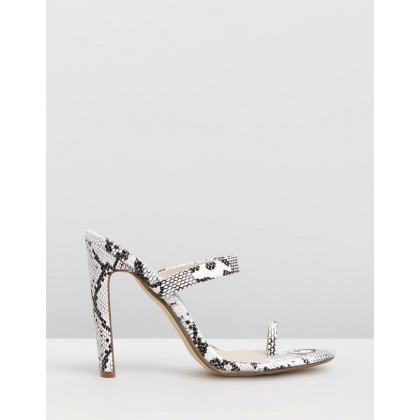 Toe Post Mules White by Missguided