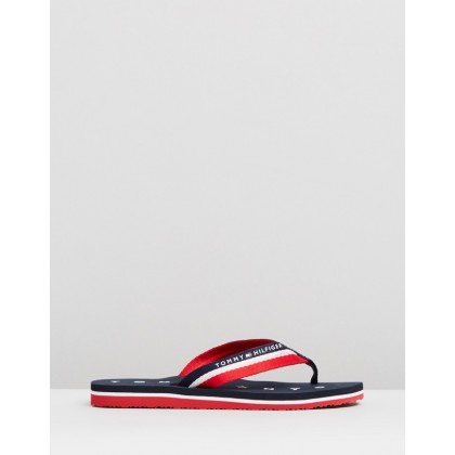 Tommy Loves NY Beach Sandals Midnight by Tommy Hilfiger