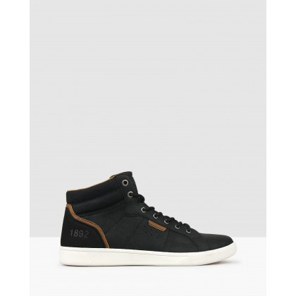 Tornado High Top Sneakers Black by Betts