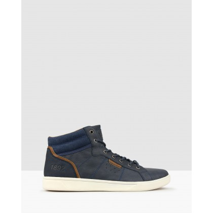 Tornado High Top Sneakers Navy by Betts