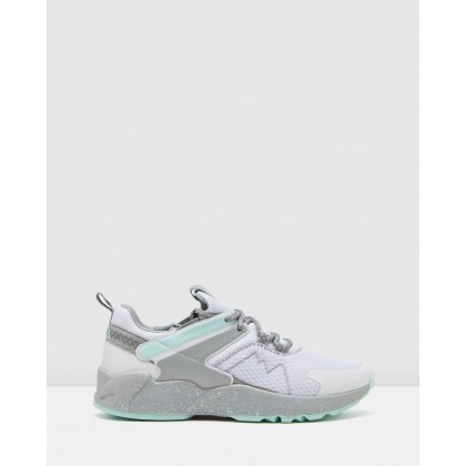 Trailator - Women's White/Aqua/Grey by Fila