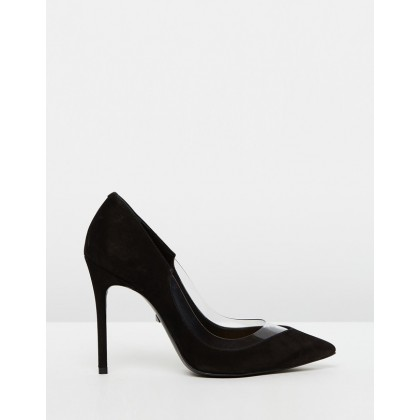 Transparent Insert Pumps Black by Schutz