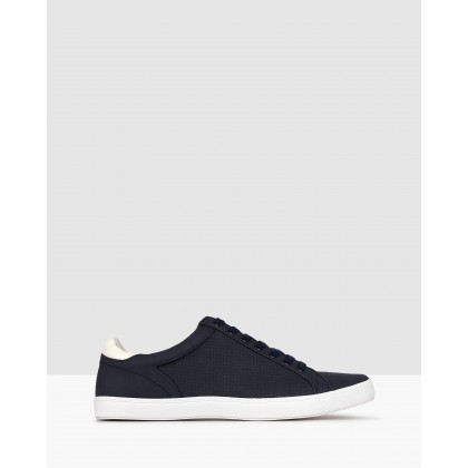 Trap Lace Up Lifestyle Sneakers Navy by Betts