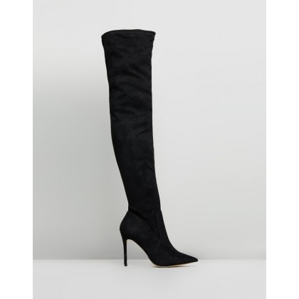 Trapeze Black Microsuede by Verali