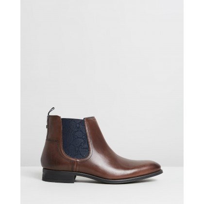 Travic Boots Brown Leather by Ted Baker