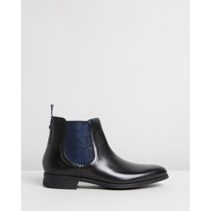 Travic Boots Black Leather by Ted Baker