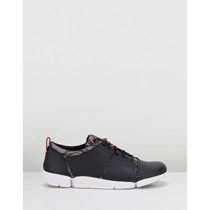 Tri Fit Black Combo Leather by Clarks