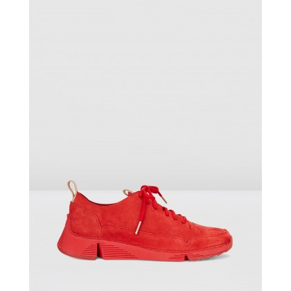 Tri Spark Red Nubuck by Clarks